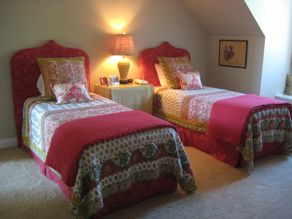 Twin beds with an exotic flair By Posh Living, LLC