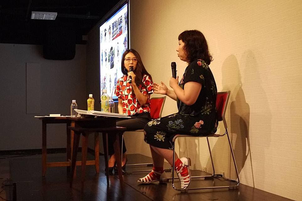 まんしゅうきつこさんと田房永子さんのトークイベントの様子