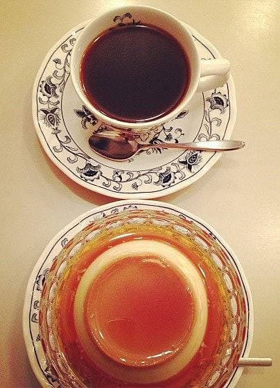 純喫茶ヘッケルンのプリンの写真