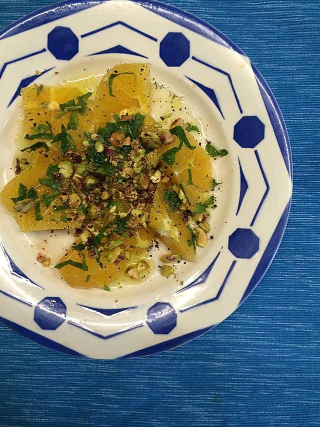 ツレヅレハナコの一人呑み晩酌カンタンシチリアのオレンジサラダ果物おつまみレシピ