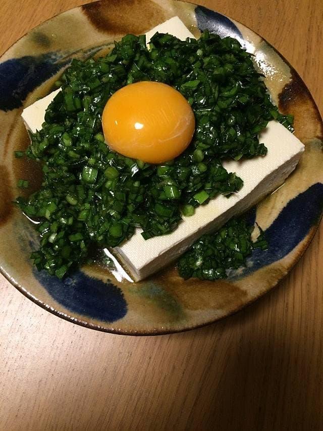 ツレヅレハナコの一人呑み晩酌カンタン生ニラ豆腐おつまみレシピ