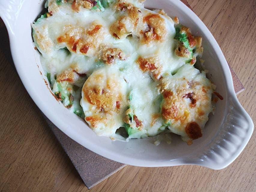 ツレヅレハナコの一人呑み晩酌カンタンアボカドとゆで卵のみそチーズ焼きおつまみレシピ