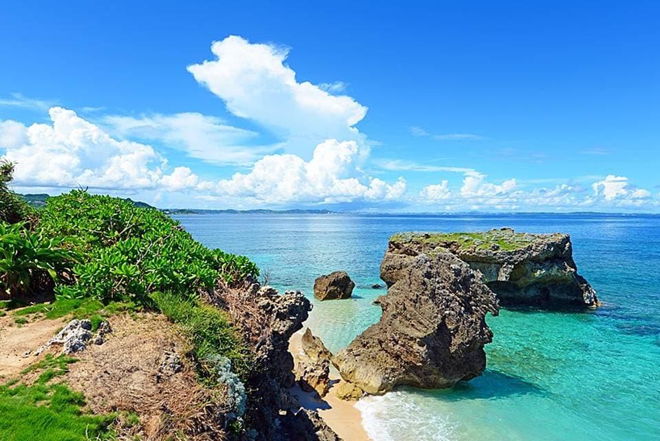 小笠原諸島のきれいな海の画像