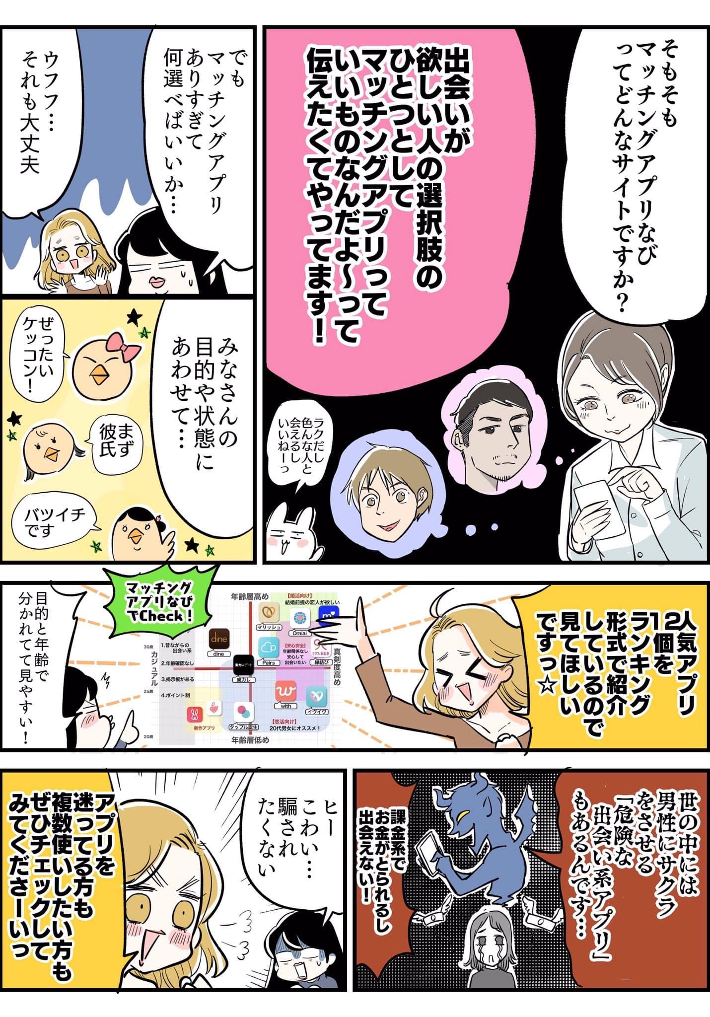 マッチングアプリなび あんじゅ先生 取材漫画3