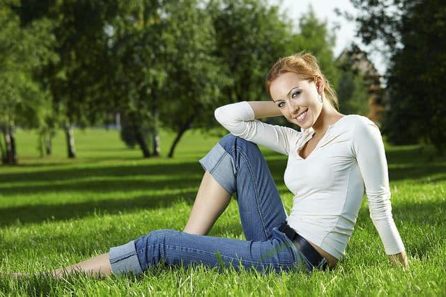 Girl on a lawn By Josef Seibel