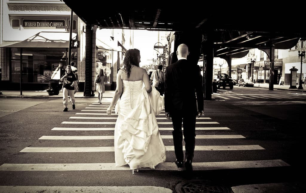 chicago wedding, wabash crossing By m5