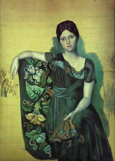 Pablo Picasso - Portrait of Olga in the Armchair  jmussuto