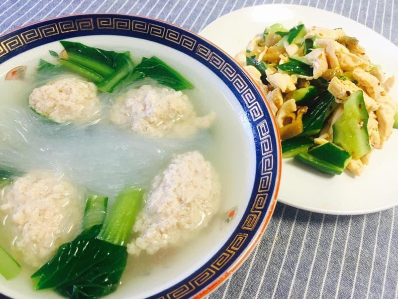 まいったねえ いたわりご飯 ヒモ レシピ ご飯 春雨スープ 鶏団子