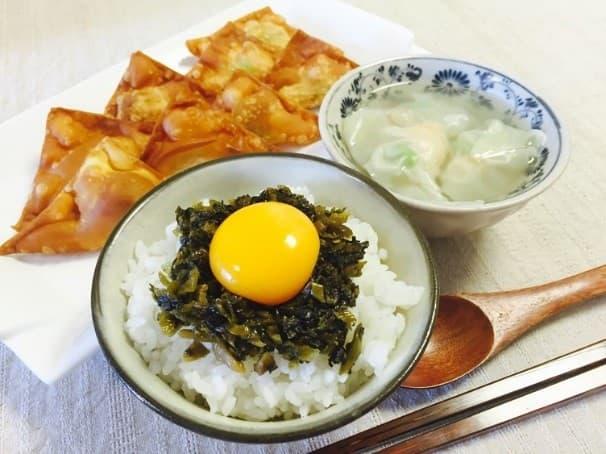 まいったねえ いたわりご飯 ヒモ レシピ ご飯 海老と枝豆のワンタン