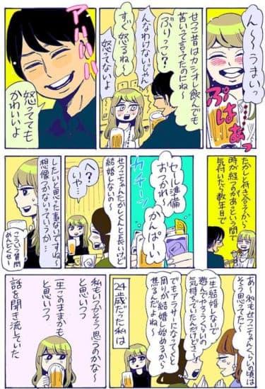 加齢で変化する女の心理!結婚が遠く感じた24歳の頃/谷口菜津子WEB漫画(58)