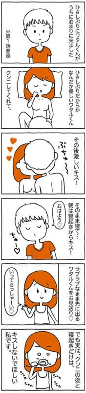 彼と絶対にキスしたくない瞬間はクンニの後と「〇〇〇」の後…/あむ子の日常(14)