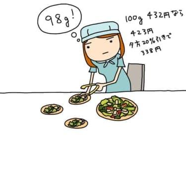 サラダの取り分けもRF1の店員並に1g単位でやるモテ女子/林雄司