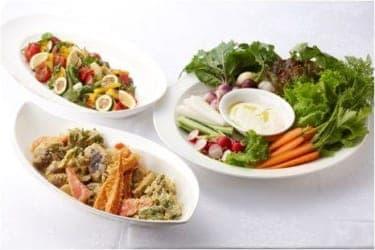 屋上菜園でとれた新鮮な野菜をめしあがれ! 『リビエラ青山JAPANESE』