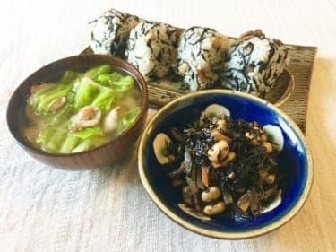 忙しい日こそ和食でほっこり!「ひじきと大豆の混ぜご飯&豚バラとキャベツの味噌汁」