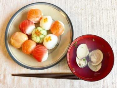 かわいい!ラップで作れる簡単「手まり寿司」で彼とひな祭りを