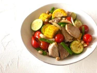 夏バテ防止!食欲そそる!豚ヒレ肉と夏野菜のソテー