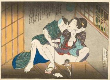 「キュン」がつまった春画を見よう。歌川国芳が描く、オラにゃん男子/春画―ル