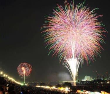 多摩川花火大会を特等席で観覧!