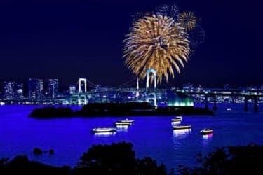 イタリアンディナーとともに楽しむ、東京湾大華火祭