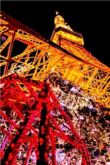 クリスマスにはやっぱりこの景色!『TOKYO TOWER クリスマスイルミネーション2012』