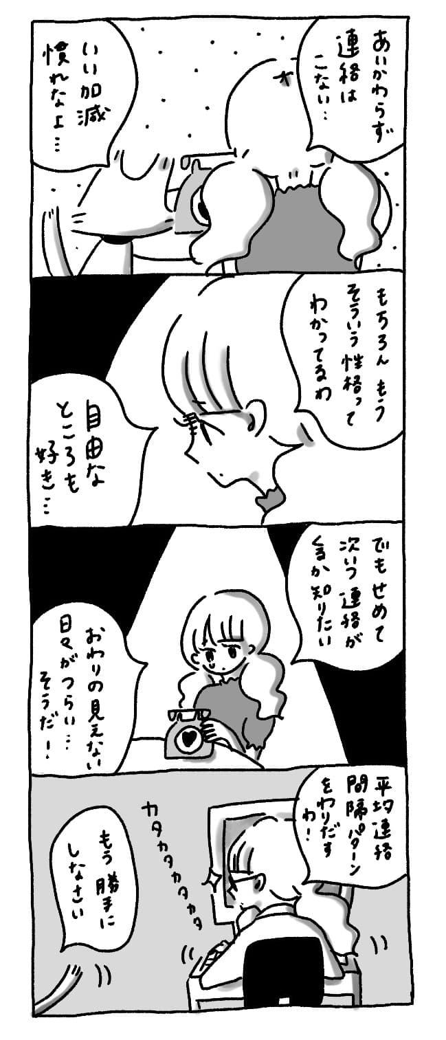 自分から連絡しない連絡まち子ちゃんの漫画