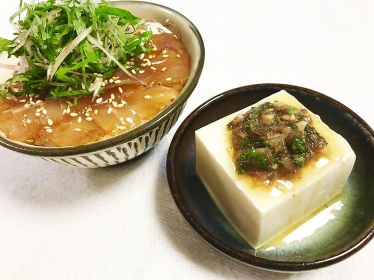 島寿司風漬け丼と食べる和風生ラー油