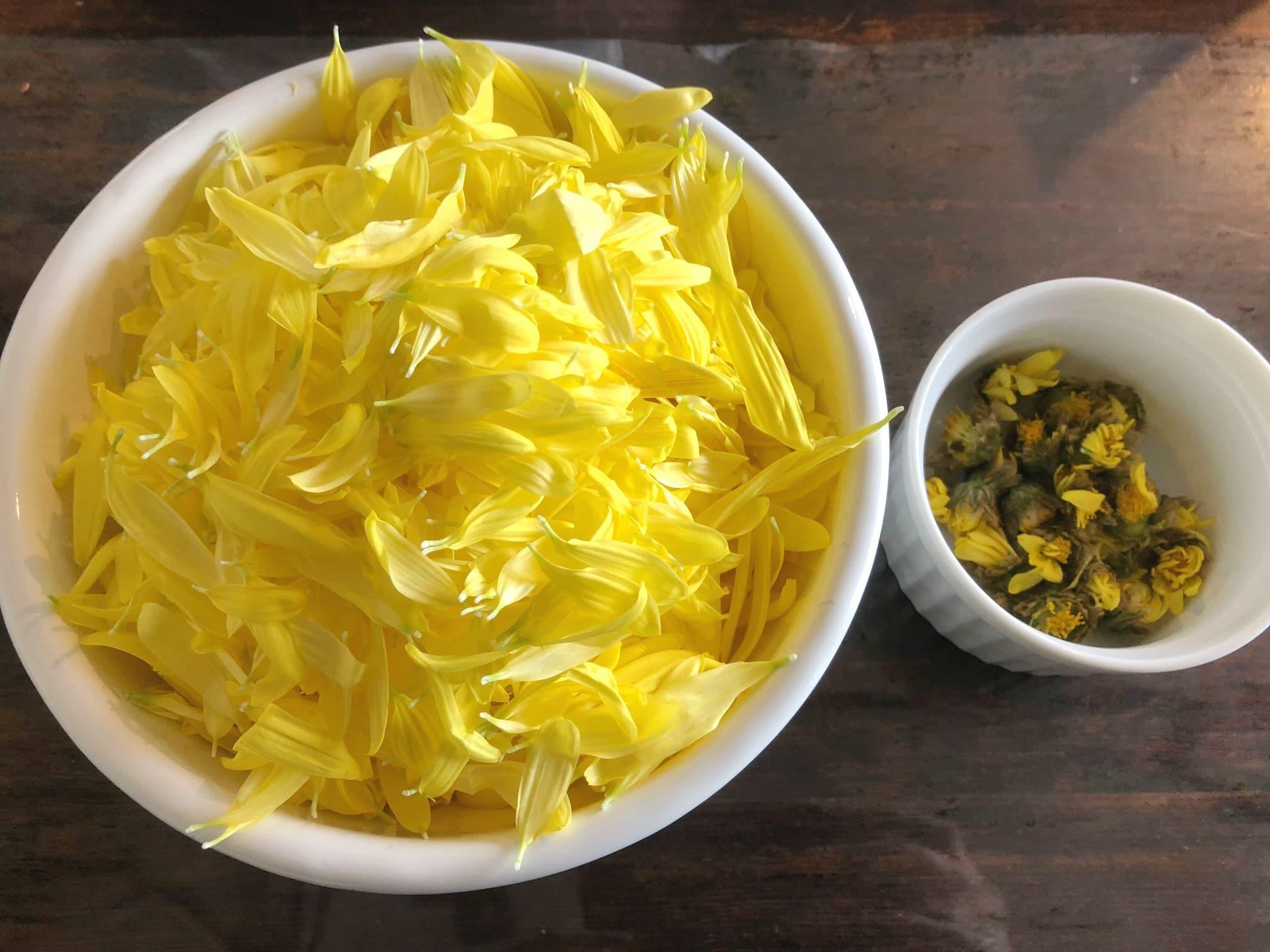 里芋と茸の菊あんのレシピ