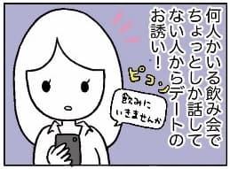 【漫画】あんまりタイプじゃない男子からデートに誘われたときの脳内裁判/あむ子の日常